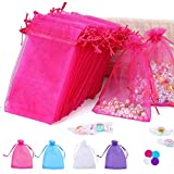 100PCS 4x6 Inches Organza Gift Drawstring Bags Pouch for Jewelry Party Wedding Favor Party Festival...