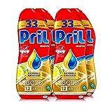 Pril Gold Gel lavastoviglie Sciogli Grasso Limone & Lime, Detersivo lavastoviglie con sgrassatore attivo, 132 lavaggi, 4 x 600 ml