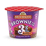 EVERYDAY CELEBRATION: 8 single serve Double Chocolate Brownie cups from Birch Benders YOU'RE JUST SECONDS AWAY: Remove lid, add water, mix, and microwave for 60 seconds FOR EVERY LIFESTYLE: Grain-free, gluten-free, no added sugar, low net carbs, Keto...