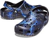 Crocs womens Classic Graphic   Water Shoes Slip on Shoes Clog, Lightening, 10 Women 8 Men US