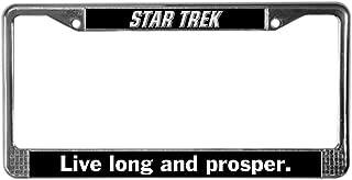 CafePress Star Trek Chrome License Plate Frame, License Tag Holder