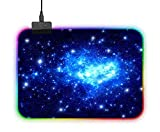 Mouse Pad RGB, LED Lighting Effects Gaming Mice Pad Mat 14inx10in/35x25cm Non-Slip Rubber Base