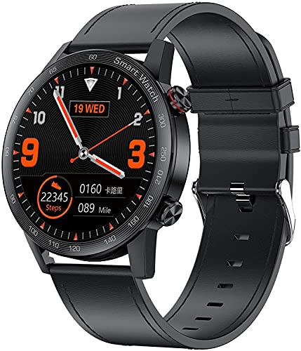 YQCH Bluetooth Call Smart Watch Music Player Monitor de Ritmo cardíaco Sport Fitness Tracker con presión Arterial Paso Calorie Contador Notificación SmartWatch para Mujeres Hombres