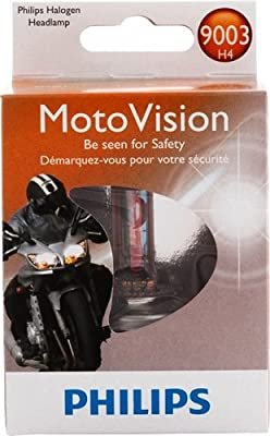 Philips MotoVision Motorcycle and Powersport Replacement Headlight Bulb, 1 Pack
