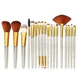 HOUXIAONI Set di Spazzole per Trucco per Labbra per Ombretto Eyeliner Eyeliner per Fondotinta in Polvere Multifunzione 18pcs,4-OneSize