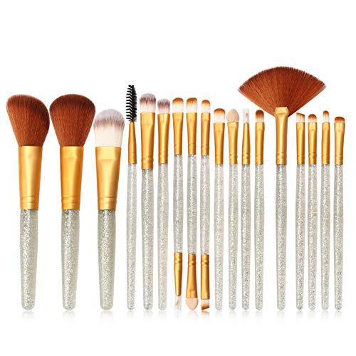HOUXIAONI 18pcs Multifonctions Pro Cosmetic Powder Foundation Eyeshadow Eyeliner Lip Makeup Brushes Sets,4-OneSize