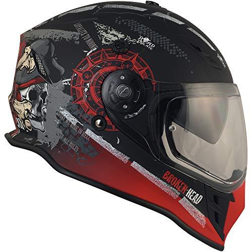 Broken Head Road Pirate Cross-Helm mit Visier   Endurohelm – MX Motocross Helm mit Sonnenblende – Quad-Helm Größe M (57-58 cm) - 9
