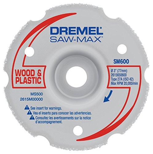 Dremel SM600 3-Inch Wood & Plastic Flush Cut Carbide Wheel , Gray
