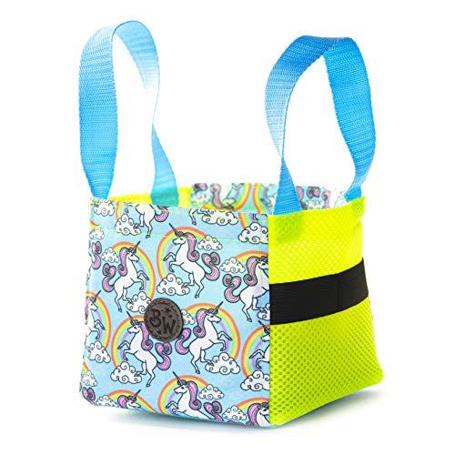 BAMBINIWELT Musikbox-Tasche, Transporttasche für Hörwürfel z.B. Toniebox und Tigerbox Touch, Halterung für Tonies,KLEIN (Modell 4)