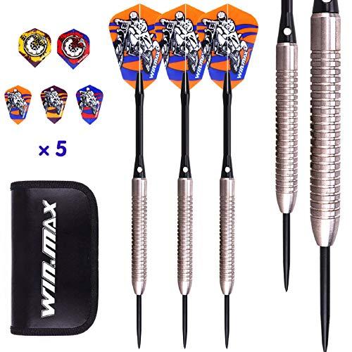 WIN.MAX Darts, Tungsten Steel Tip Set 24/22 Grams 90% 80% Tungsten (90% Tungsten 24 Grams)