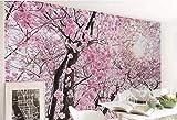 Fotomurales Papel pintado tejido no tejido Cerezo rosa Murales moderna Arte de la pared Decoración de Pared decorativos 250x175 cm