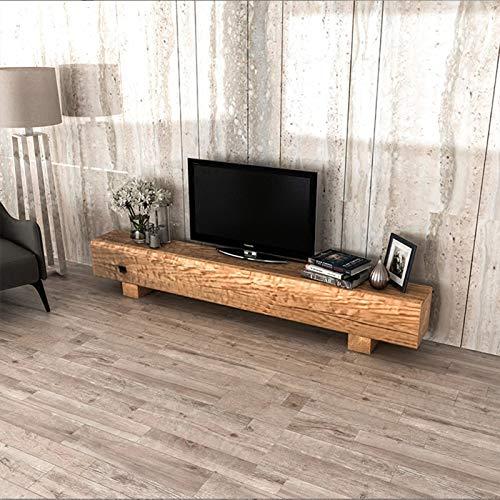 Mueble De TV De Registro Nórdico, Taburete Largo Industrial Retro Vintage De Grano De Madera Vieja, Soporte De TV Irregular En El Mueble De Piso De La Sala De Estar, 120X25x35cm