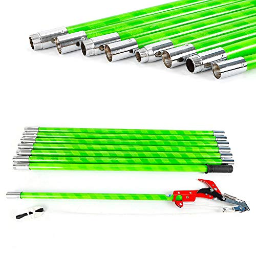 VPABES 26 Foot Length Tree Pole Pruner Tree Saw Garden Tools Loppers Hand...