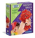 Clementoni - 19145 – Ciencia y Juego – Squishy Balls – Juego científico para niños de 8 años – Laboratorio científico Bolas – Kit de experimentos Italiano, Multicolor