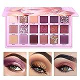 QUNANEN Eyeshadow Palette 18 Color Waterproof Eye Shadow Plate Powder Matt Eyeshadow Cosmetic Makeup … (Eyeshadow #B)