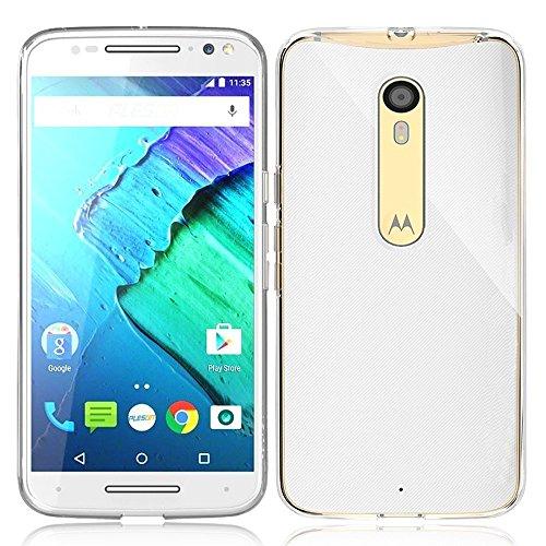 ivoler Hülle Case Kompatibel für Motorola Moto X Style, Premium Transparent Klare Tasche Schutzhülle Weiche TPU Silikon Gel Handyhülle Schmaler Cover