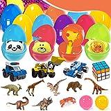 Caiery Uova di Pasqua 8.5 * 6cm Piene di Giocattoli Riempite per Bambini,scuole, spettacoli,Ricreazione,Festa di Compleanno,Pasqua
