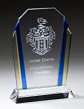 NWA Beautiful Tri-Color Glass Award, Achievement, Wedding, Graduation Plaque, Glass Award, Police, Corporate, Firefighters Awards