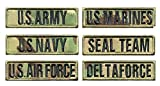 Antrix US Army US Navy US Air Force US Marines US Seal Team Delta Force Patch Looped Tactical Military Uniform Emblems Name Patch for Jackets Jeans Jersey Pants - Multicam 4x1.5'