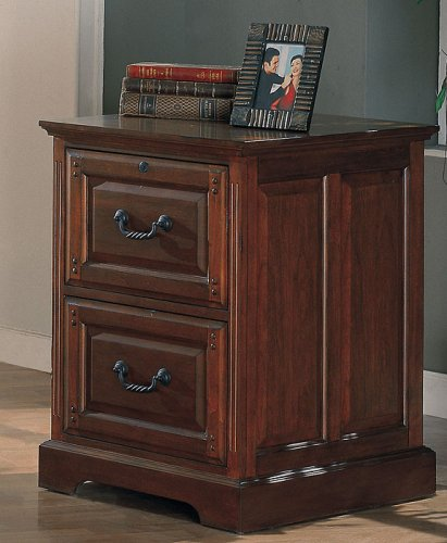Mahogany Finish Home Office File Cabinet by Coaster