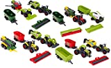 toyland® confezione da 6 set di trattori e attrezzi agricoli in metallo pressofuso - ca. 5 cm - 4 assortiti - collezionali tutti