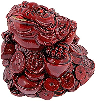 Amazon.com: Giftman Lucky Red Resin Money Toad/Frog with ...