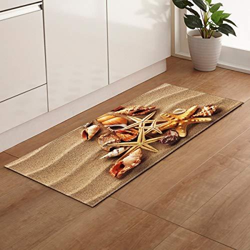 OPLJ Eingang Fußmatte Küchenmatte Home Schlafzimmer Flur Bodenteppich 3D-Muster Dekoration Teppich Badezimmer rutschfestes Pad A2 40x120cm