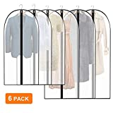 Eyscoco Kleidersack Kleiderhülle, 6 Stück Kleidersack Anzugtasche Anzugsack Kleiderhülle aus Atmungsaktivem Material,Erstklassiger Schutz Aufbewahrung für Anzug Mäntel und Kleid