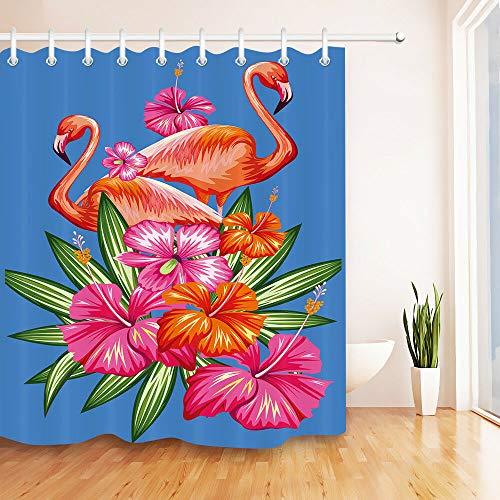 cortinas de baño flamencos