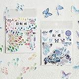 YRBB 6Sheets / Pack New Amorous Girl Transparentes Tagebuch Deco Note Kawaii Spielzeugaufkleber Haftnotizen Dekorationsetikett