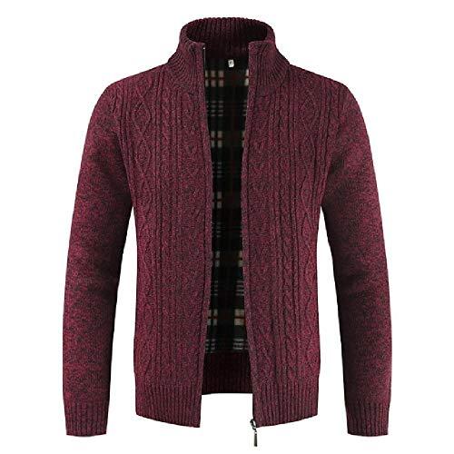 Los hombres Suéteres Otoño Invierno Cálido Suéter de Punto Chaquetas Chaqueta Abrigos Cremallera Masculina Ropa Casual Prendas