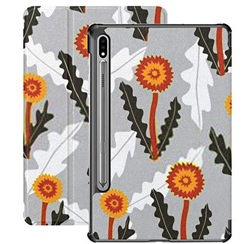 Estuche para Galaxy Tab S7 Estuche Delgado y liviano con Soporte para Tableta Samsung Galaxy Tab S7 de 11 Pulgadas Sm-t870 Sm-t875 Sm-t878 2020 Versión, Patrón sin Costuras Creativo Decorativo Diente
