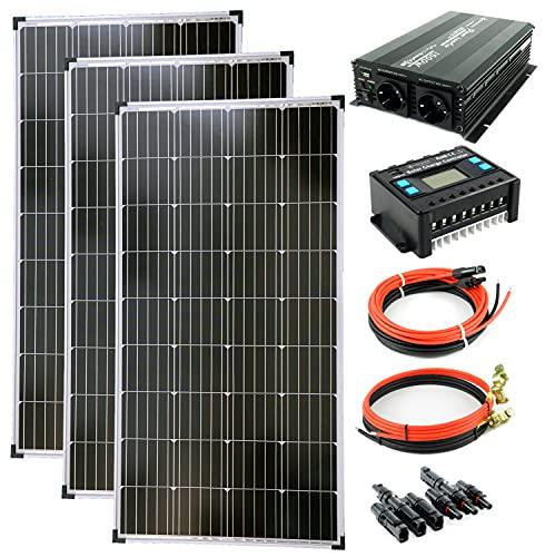 solartronics Komplettset 3x130 Watt Solarmodul 1500 Watt Wandler...