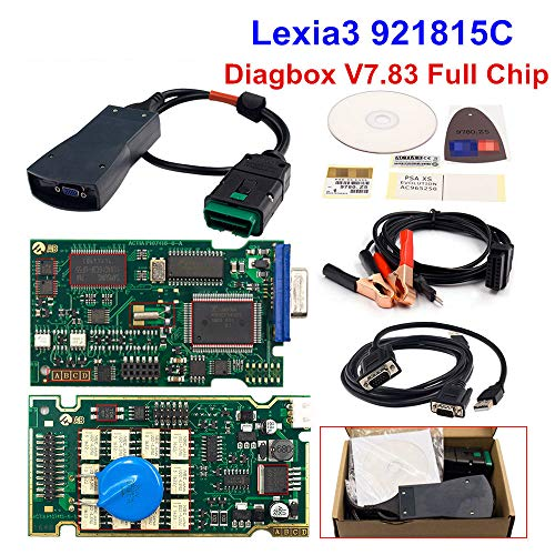 ZLMFBMStomsHan Auto Diagnosescanner, Lexia 3 Full Chip-PP2000Auto Scanner Diagbox Scanner, mit Neu in Multi-Languages Erhältlich für Citroen Peugeot