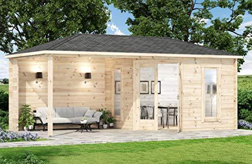 Alpholz 5-Eck Gartenhaus 4x5 Liwa-28 aus...
