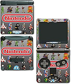 Classic Nintendo Video Game Character Sprites Retro Pixel Art Galaga Donkey Kong Kirby Mario Metroid Samus Vinyl Decal Skin Sticker Cover for GBA SP Gameboy Advance System