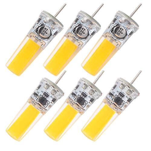 GRV G5.3 COB 2508 4W AC12V DC12~24V GX5.3 bi pin Basis Kabinett Led Silikon Licht Kristall 35w Halogen Track Birne Ersatz Warmweiß 6 Stück