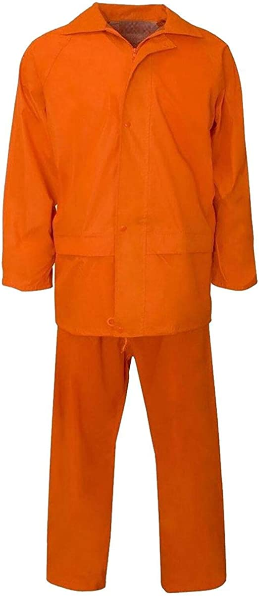Spinbit Mens Long Sleeve PVC Rainsuit Women Waterproof Workwear Top and Trouser Rainwear S/4XL