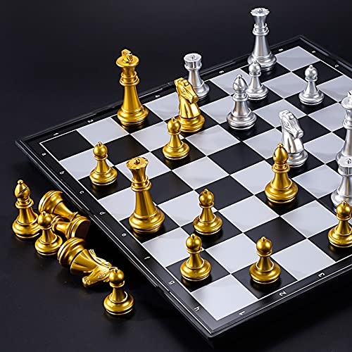 Magnetic Chess Set, Portable Travel Puzzle Game Toys, for Adults and Children (9.8x9.8in)