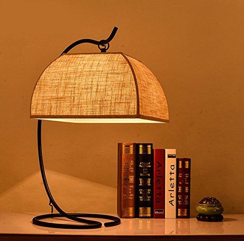 motes uvar modernos chinos minimalis Mesas Retro–Lámpara cama habitación de hotel Aprendizaje habitación joyas–Bombilla, sin fuente de luz, Button Cambiar