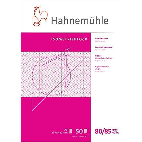 HAHNEMUEHLE Isometrieblock A3 50Blatt 80/85g Zeichenpapier - A3, 10662762