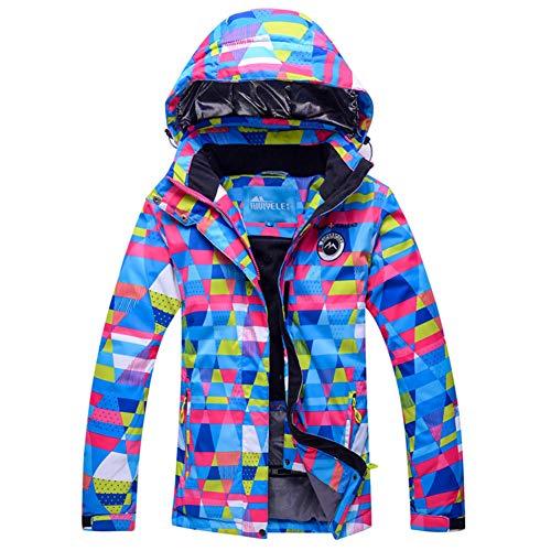 Femme Imprimé Vestes de Ski,Plein air Imperméable Veste d'enneigement Snowboard Veste Hiver Coupe-Vent Manteau de Pluie Épaissir Vêtements d'Alpinisme-B 3XL