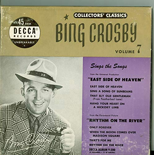 Collector's Classics Vol 7 - Original Box Set - 4 vinyl 45s, 8 Songs w/East Side of Heaven / | Sing a Song of Sunbeams / That Sly Old Gentlemen / Hang Your Heart on a Hickory Limb plus 4 more - Bing Crosby (Decca Records 1950) Near-Mint (7 out of 10)