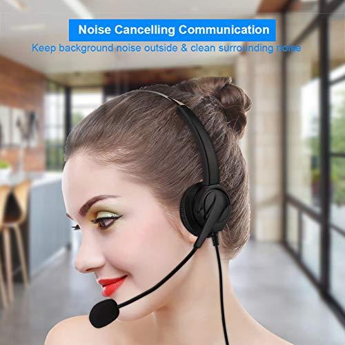 Bezprzewodowy zestaw słuchawkowy Call Center, uniwersalny regulowany system redukcji szumów 2,5 mm Dual Ear Call Center Słuchawki telefoniczne do biura, kierowca samochodu, obsługa klienta