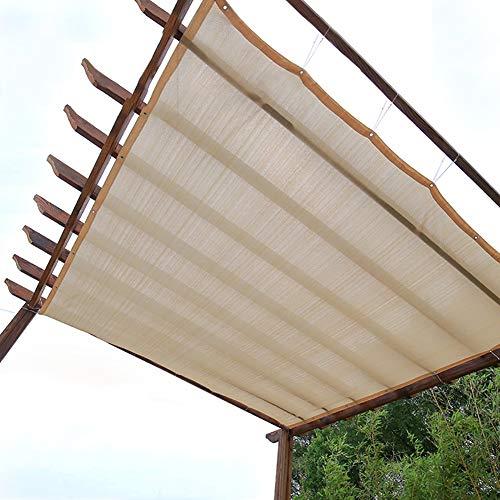 Filet D'ombrage Housse pour Abat-jour Pergola Beige - Tissu Pare-soleil Rectangulaire avec Œillets, Terrasse Extérieure/Solarium/Arrière-cour, Cryptage 90% Sunblock (Size : 1×2m)
