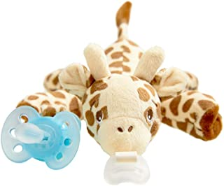 Philips Avent ultra soft Snuggle Pacifier Holder with Detachable Pacifier, Giraffe, 0-6m