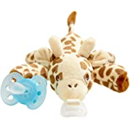Philips Avent Ultra Soft Snuggle Pacifier, 0-6 Month, Giraffe, SCF348/01, 1 Count