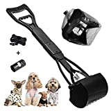 XCOZU Recogedor de Cacas de Perros, Plegable Recoge Cacas de Perros de Mango Largo para Mascotas, 60cm Recogedor Excrementos Perro con Bolsas de Basura para Gatos y Perros al Aire Libre Interior