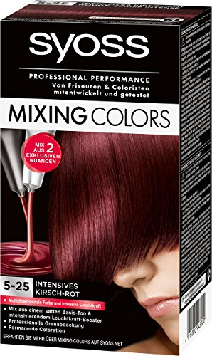 Syoss Mixing Colors Coloration 5-25 Intensives Kirsch-Rot, 3er Pack (3 x 135 ml)