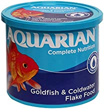 AQUARIAN Complete Nutrition, Aquarium Goldfish Food, Flakes Also Suitable for Small Pond Fish, 200 g Container